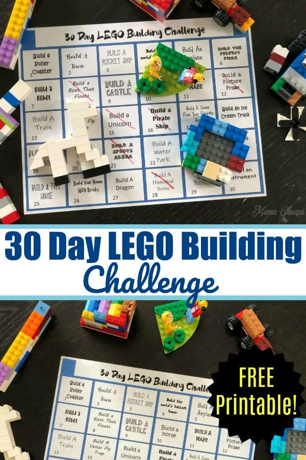 30 Day LEGO Building Challenge pin