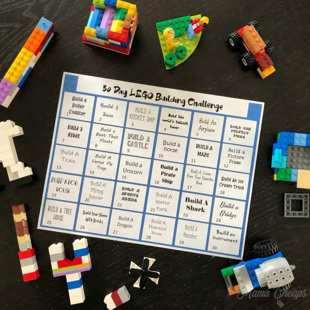30 Day Lego Building Challenge SQUARE