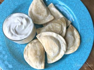 Cooked Pierogies plate