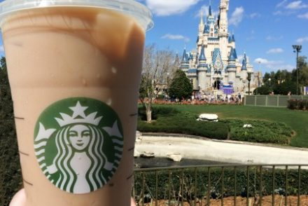 Disney Magic Kingdom Starbucks Iced Coffee MC