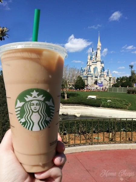 Disney Magic Kingdom Starbucks Iced Coffee MC