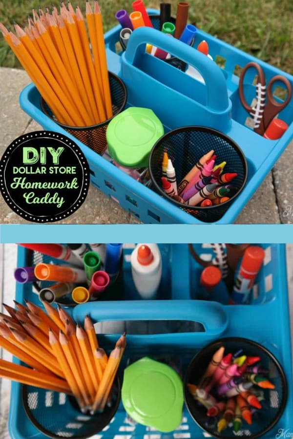 Dollar Store Homework Caddy