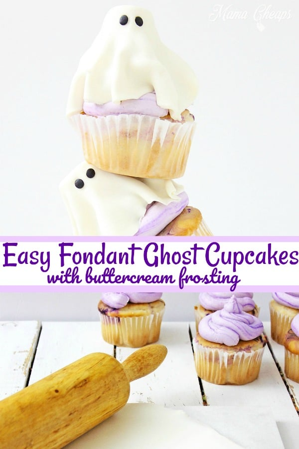 Easy Fondant Ghost Cupcakes long pin 2