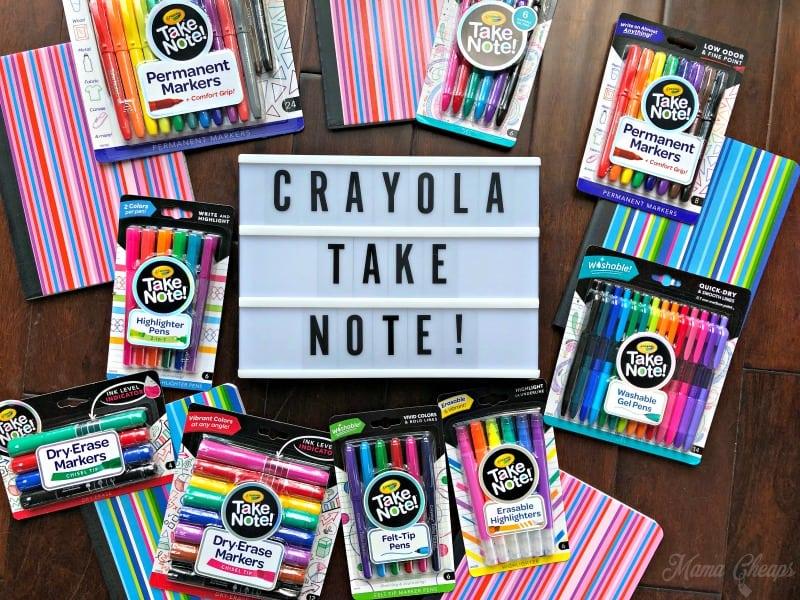 Flat Lay Crayola