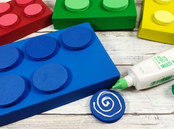 Glue on LEGO boxes