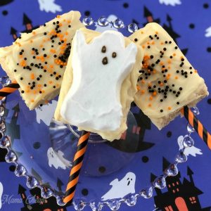 Halloween Ghost Peeps Krispies Treats