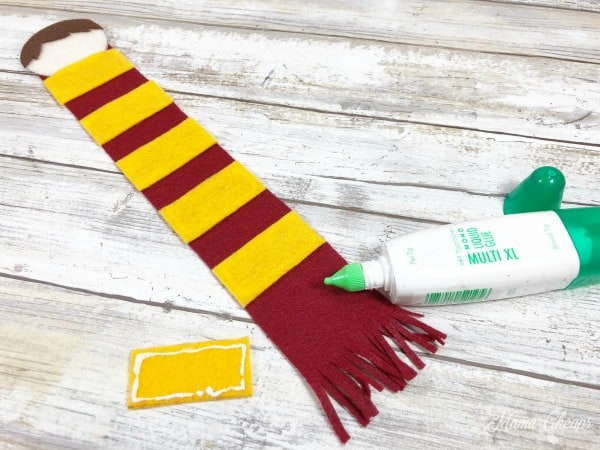 Harry Potter Bookmark glue scarf
