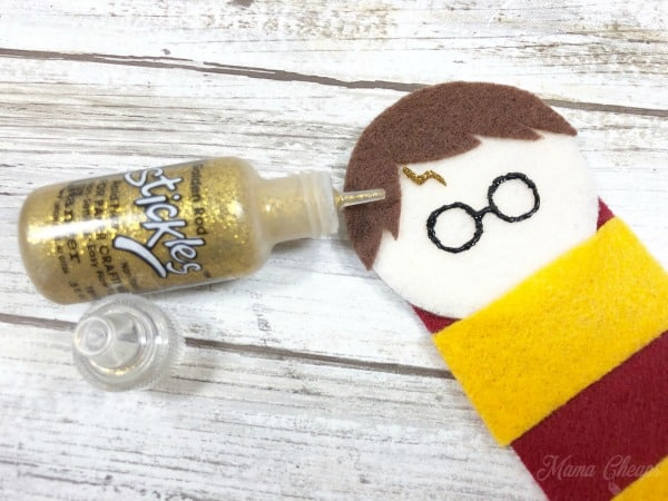 Harry Potter Bookmark gold paint