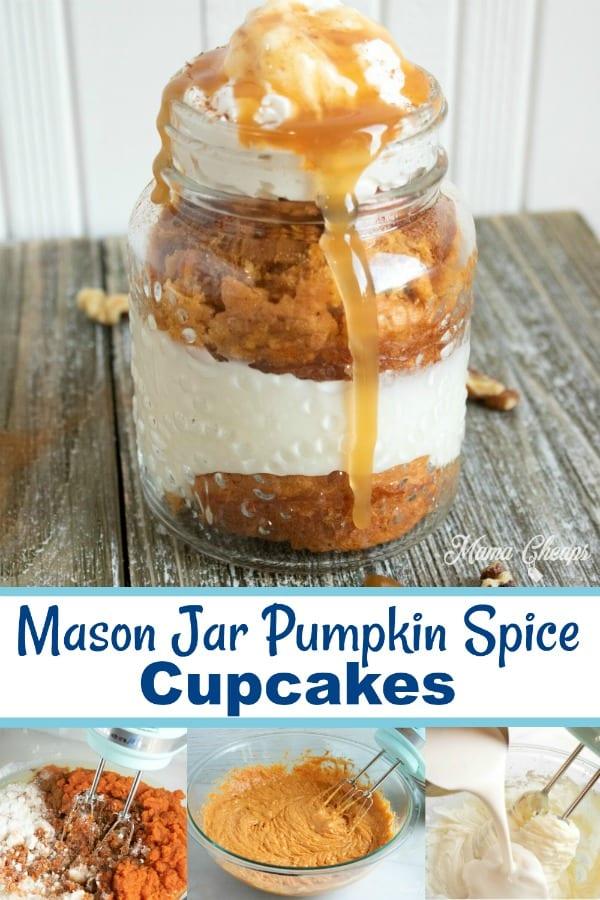 Mason Jar Pumpkin Spice cupcakes