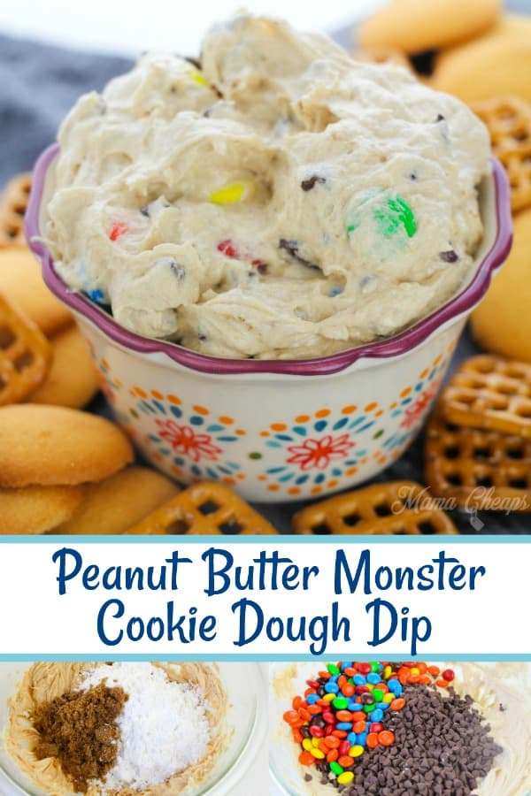 Peanut Butter Monster Cookie Dough Dip