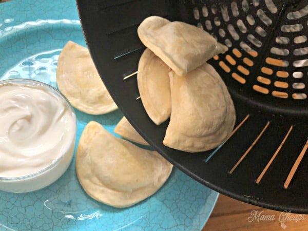 air fried Pierogies