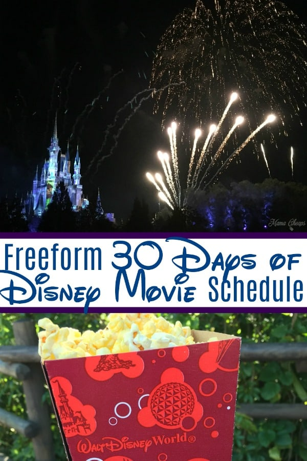 freeform Disney Movie Schedule