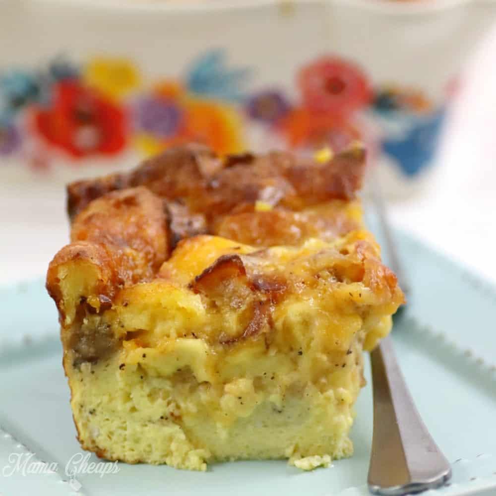 loaded breakfast casserole SQUARE