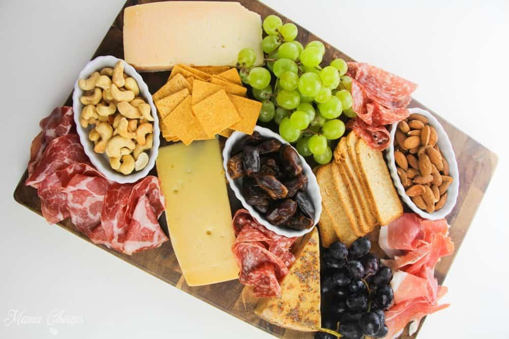 DIY Cheese Board Overhead