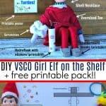 DIY VSCO Girl Elf on the Shelf Printables 2