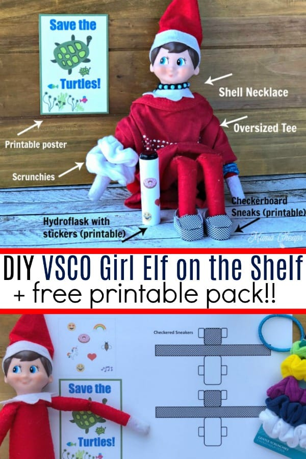 DIY VSCO Girl Elf on the Shelf Printables 2