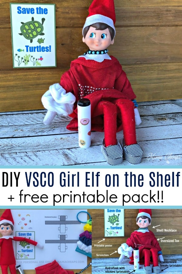 DIY VSCO Girl Elf on the Shelf Printables
