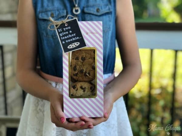 Kid Holding Teacher Cookie Gift