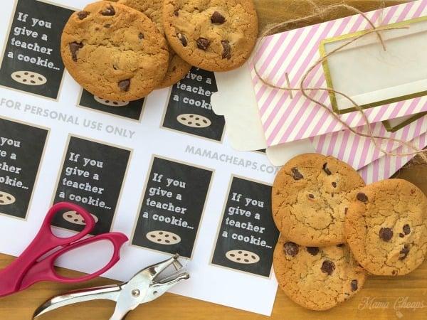 Teacher Cookie Gift Supplies