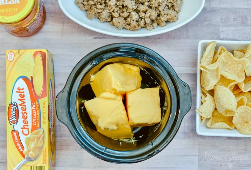 Cheese in slow cooker