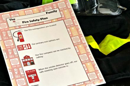 Family Fire Safety Plan Printable