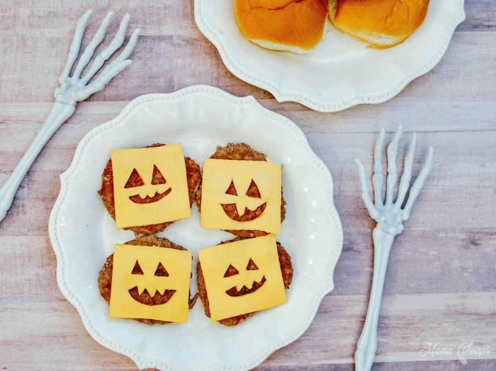 Halloween Pumpkin Burgers