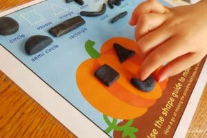 Play Dough Pumpkin Mat Kid Hands