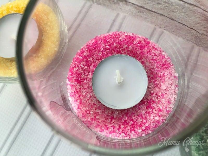 sugar sprinkles in glass