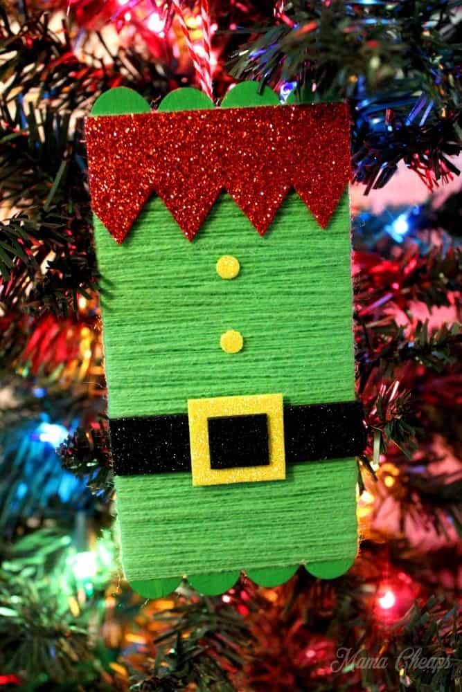 DIY Elf ornament