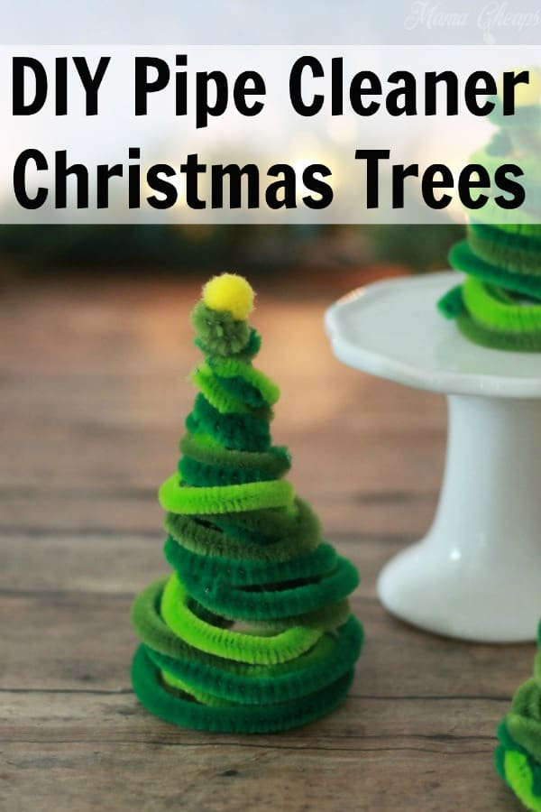 DIY Pipe Cleaner Christmas Trees PIN 2