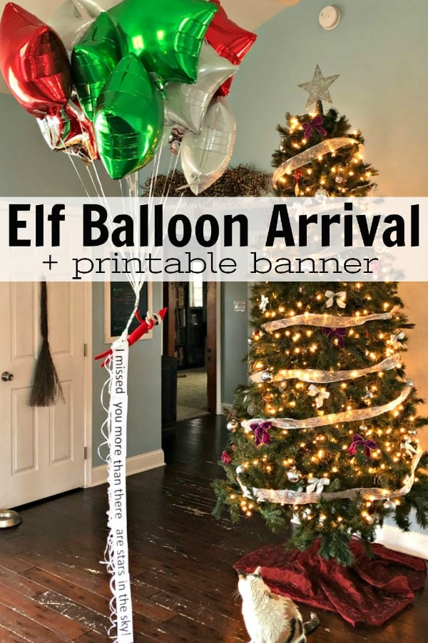 Elf Balloon Arrival PIN