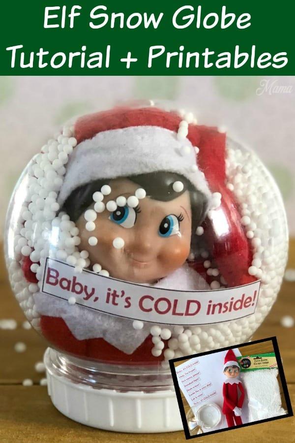 Elf Snow Globe Tutorial + Printables PIN