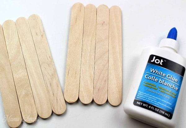 Glue and Craft Sticks