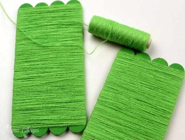 Green String around craft sticks