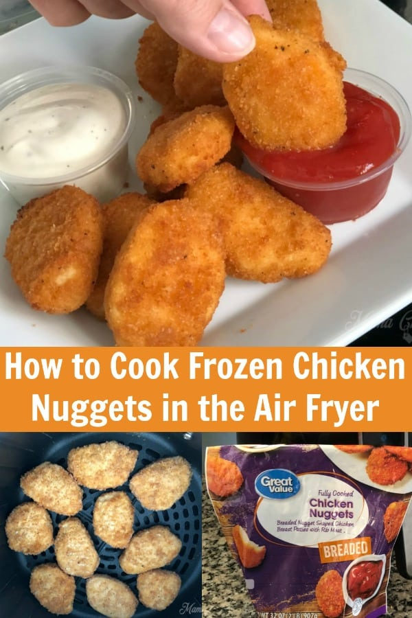 How to Cook Frozen Chicken Nuggets in the Air Fryer PIN 1