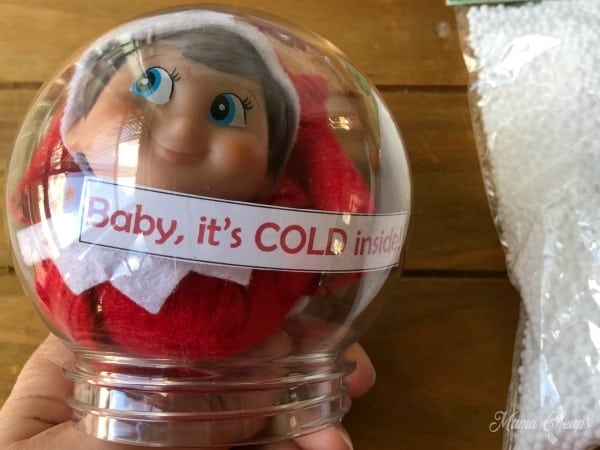 Message in snow globe