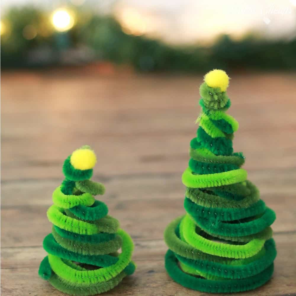 Pipe Cleaner Christmas Trees Square 2