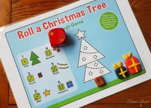 Roll a Christmas Tree Mat