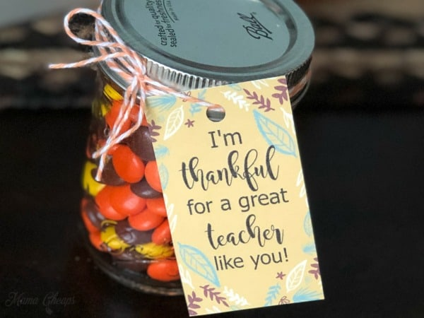 Thankful for teacher gift tags