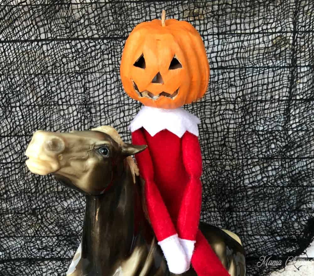 headless horseman elf close up