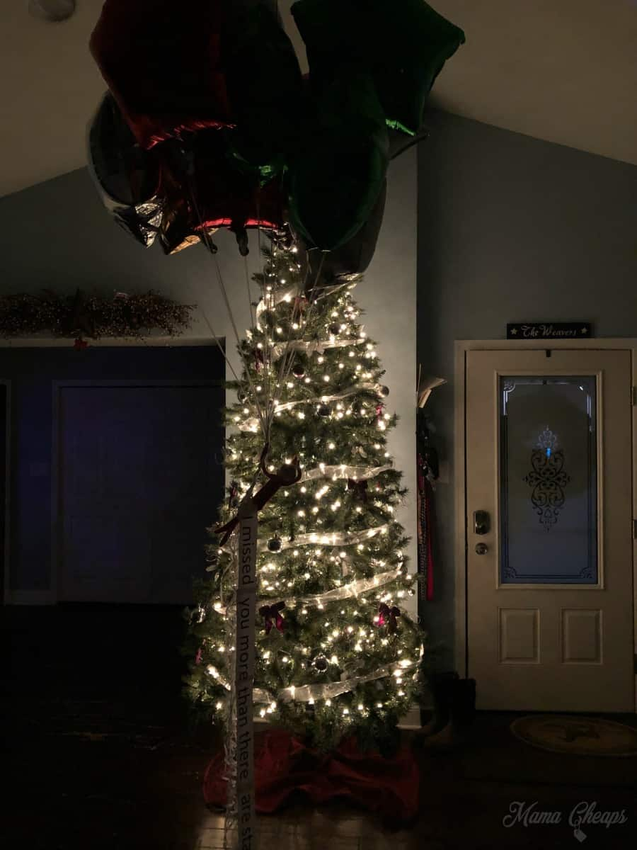 tree lights flying elf