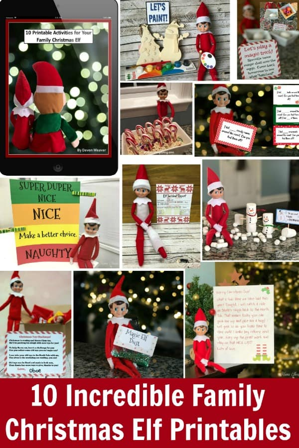 easy elf printables