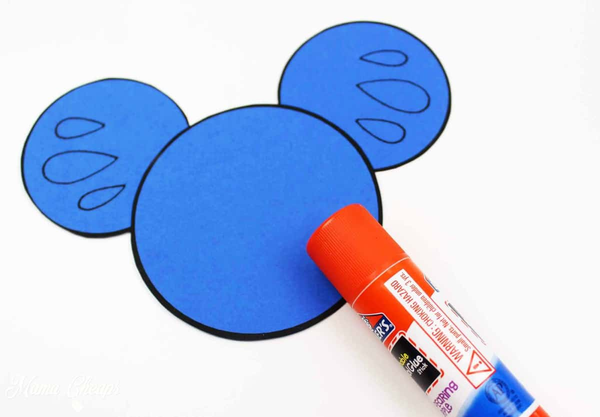 Blue mickey ear pieces