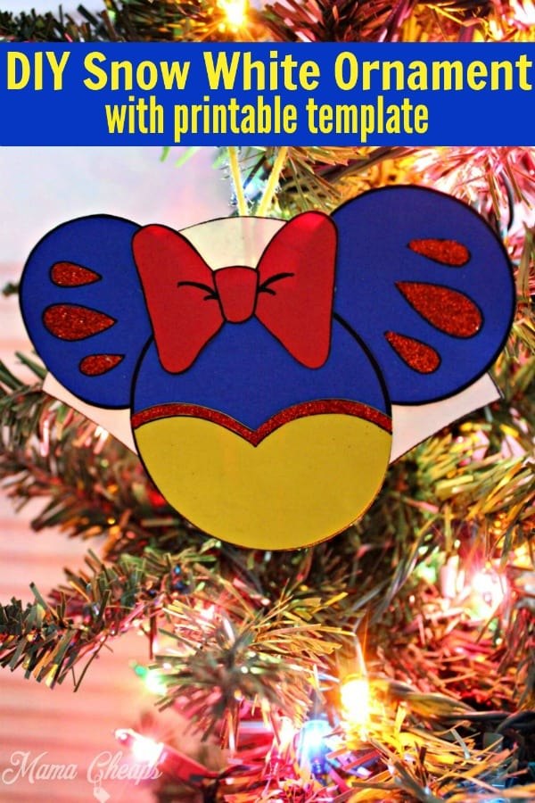 DIY Snow White Ornament PIN 1