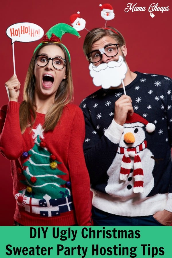 DIY Ugly Christmas Sweater Party Hosting Tips PIN