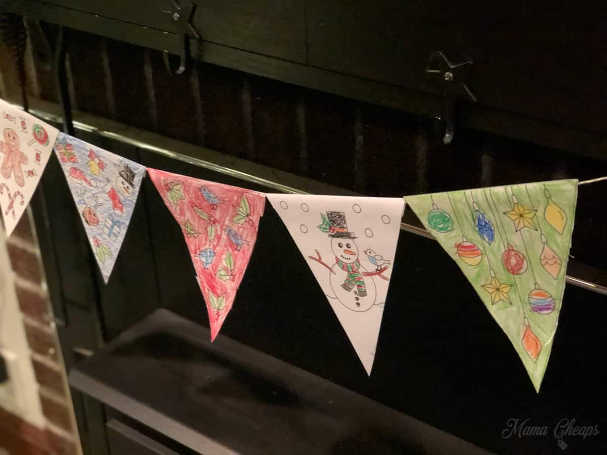 DIY holiday bunting for kids