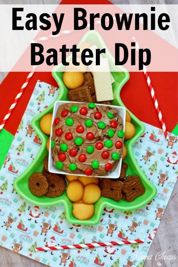 Easy Brownie Batter Dip PIN