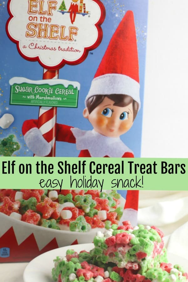 "Did you see the new Elf on the Shelf Cereal? We'll show you show to use this cereal to put a fun ""ELF"" spin on the traditional classic dessert, Rice Krispies Treats."