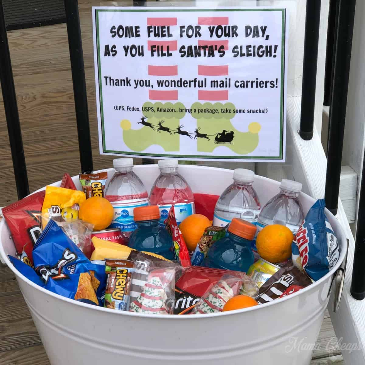 Mail Carrier Snack Bucket SQUARE