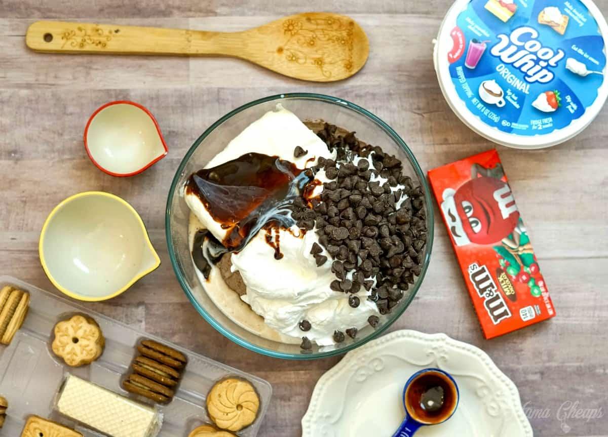 Making Brownie Batter Dip
